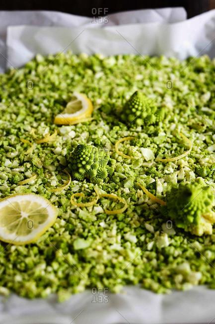 Romanesco cauliflower rice