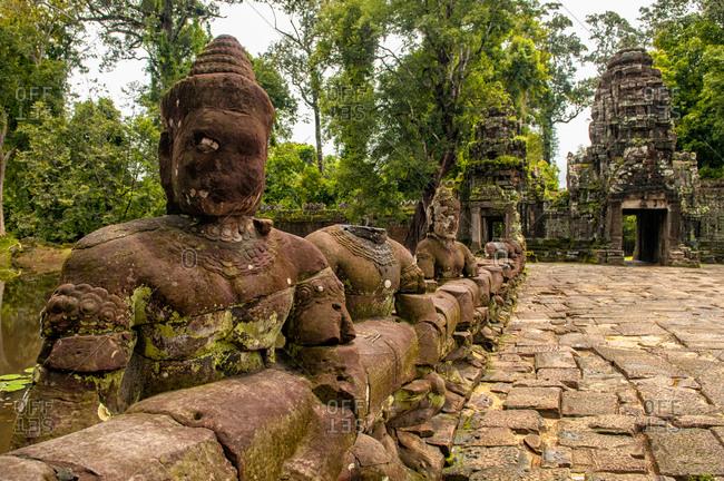 The main bridge to Angkor Thom, Cambodia