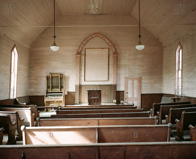 Abandoned church in a ghost town