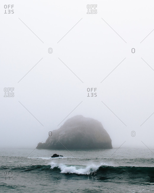 Waves crashing on the coast of Jenner, California