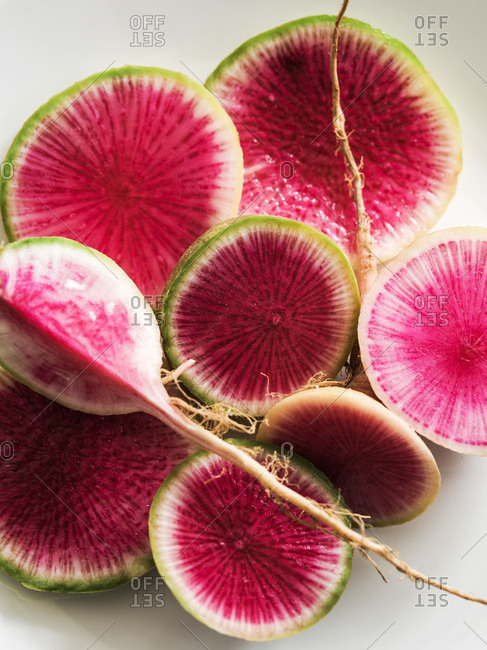 Sliced watermelon radishes - Offset Collection