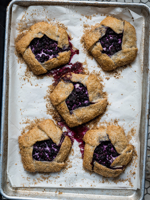 Blueberry and cheese galettes