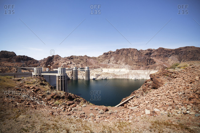 Hoover Dam on the Colorado River on the Arizona and Nevada border