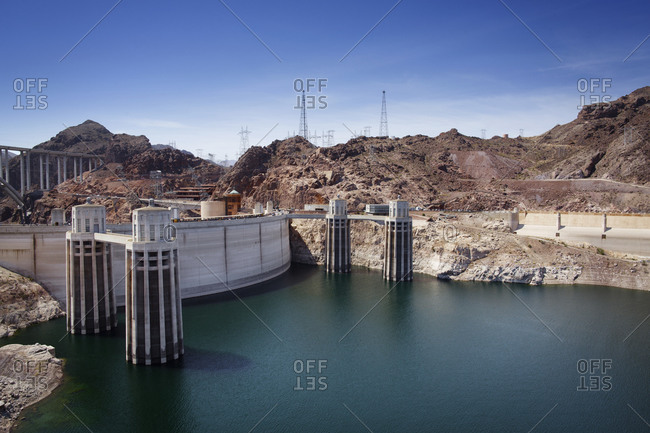 Hoover Dam and Colorado River on the border of Arizona and Nevada