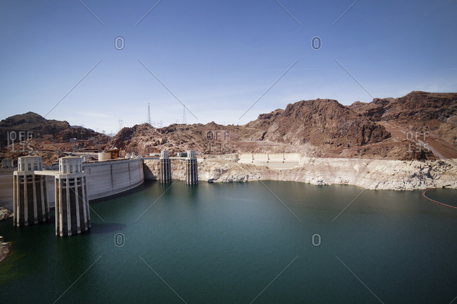 Hoover Dam and Colorado River on the Arizona and Nevada border
