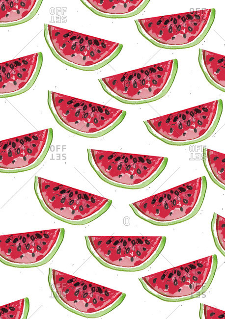 Pattern of watermelon slices