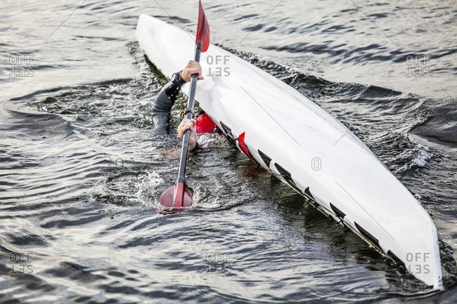 Canoe capsizing