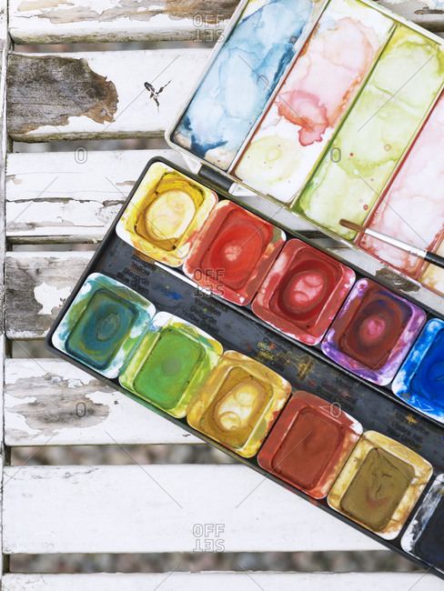 Watercolor paints from the Offset Collection