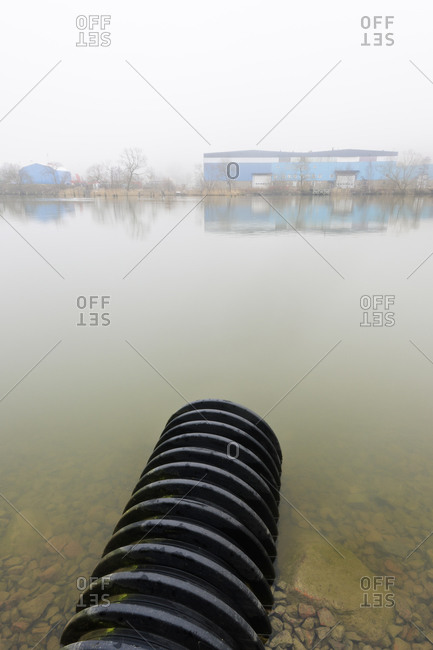 Pipe in water