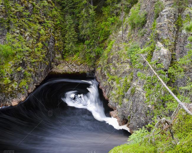 River running through a canyon