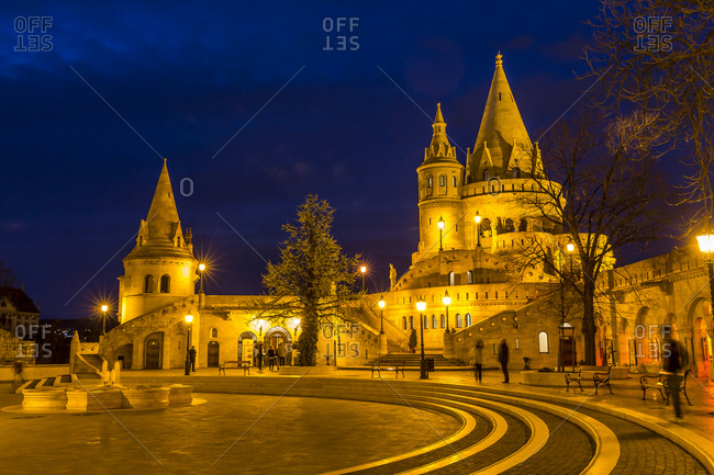 Fisherman's Bastion, Blue hour, Budapest