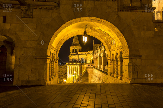 Fisherman's Bastion at night, Budapest