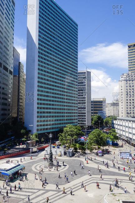 Rio de Janeiro, Brazil - May 19, 2015: View to Largo da Carioca, Rio de Janeiro