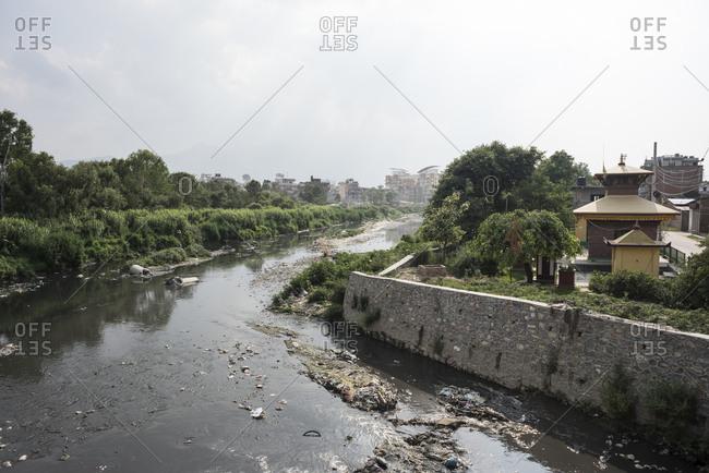 The Bagmati River in Kathmandu, Nepal