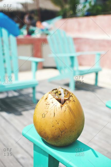 Fresh coconut water beverage