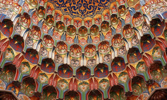Close up of decorative mosque dome, Bukhara, Uzbekistan