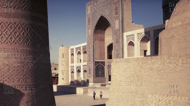 Exterior of mosque at Poi Kalyan, Bukhara, Uzbekistan
