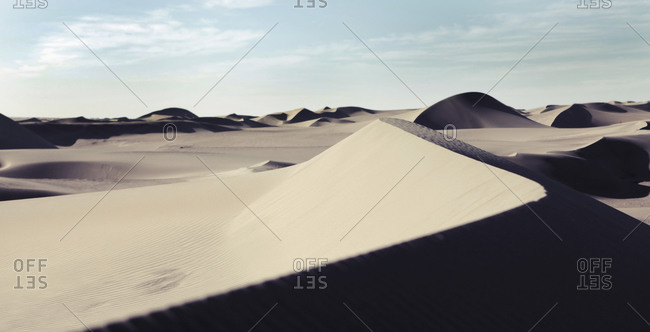 Sand dunes at Taklimakan desert, Xinjiang province, China