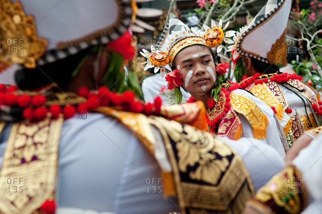 Bali, Indonesia - May 29, 2015: A religious festival