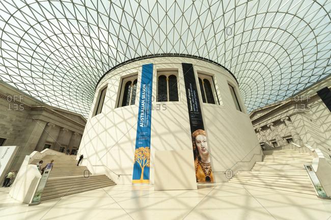 London, United Kingdom - September 1, 2011: Great Court, British Museum