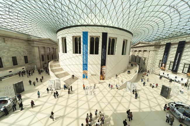 London, United Kingdom - September 1, 2011: Great Court inside British Museum