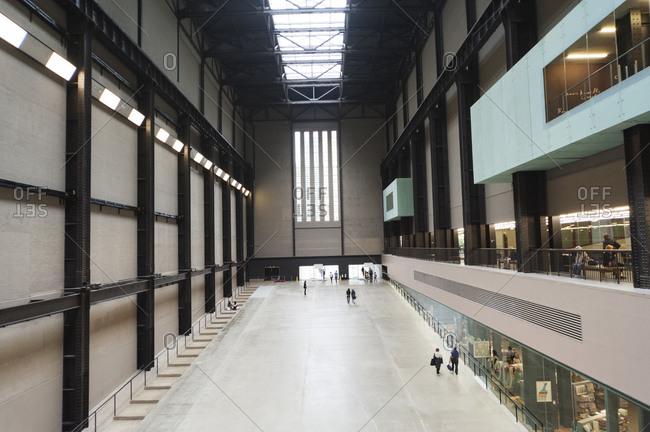 London, United Kingdom - September 5, 2011: Interior of Tate Modern museum