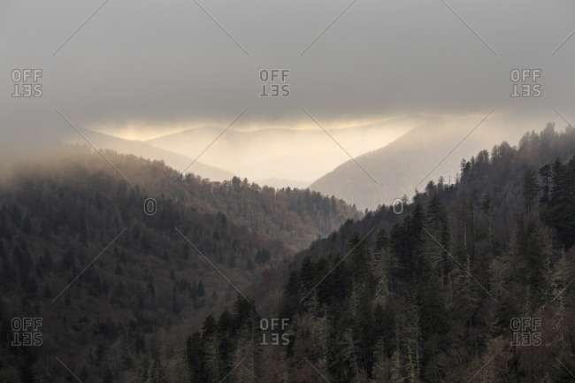 View of the Great Smoky Mountains from Morton Overlook