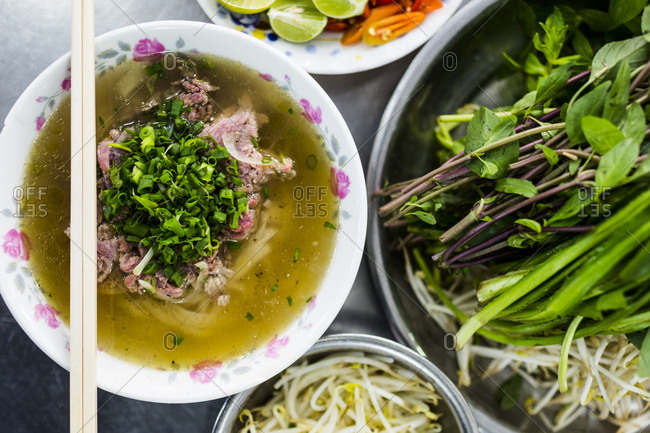 Beef pho in Ho Chi Minh City, Vietnam