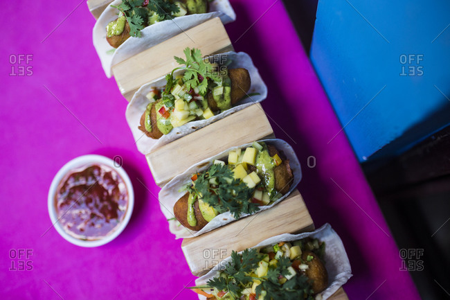Baja fish tacos in Ho Chi Minh City, Vietnam