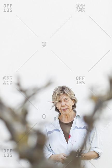 Portrait of a senior female artist