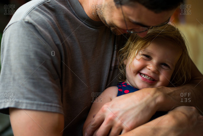 Father and daughter sharing a laugh