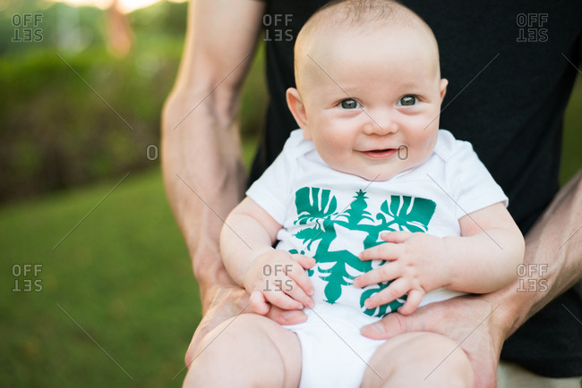 Portrait of a happy baby