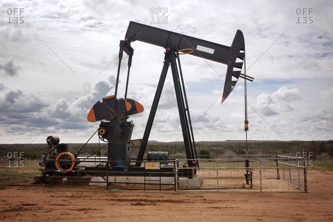 Pumpjack at an oil well