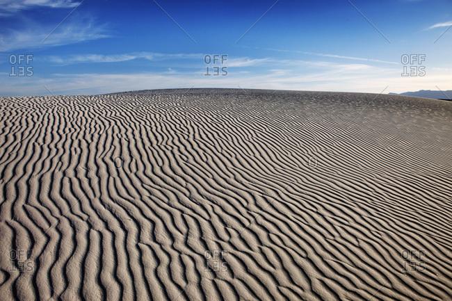 Wind patterns in the desert