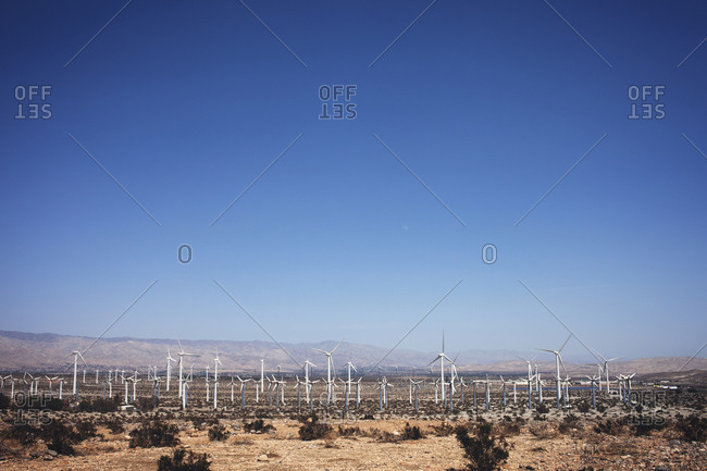 Wind farm in a desert