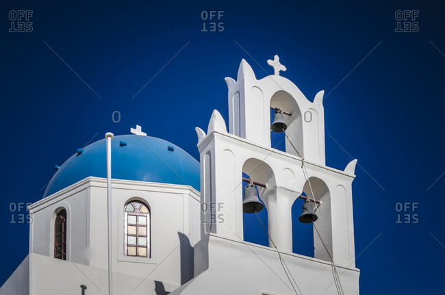 View to Greek Orthodox Church, Santorini