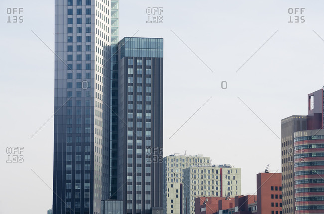 View to modern buildings, Rotterdam