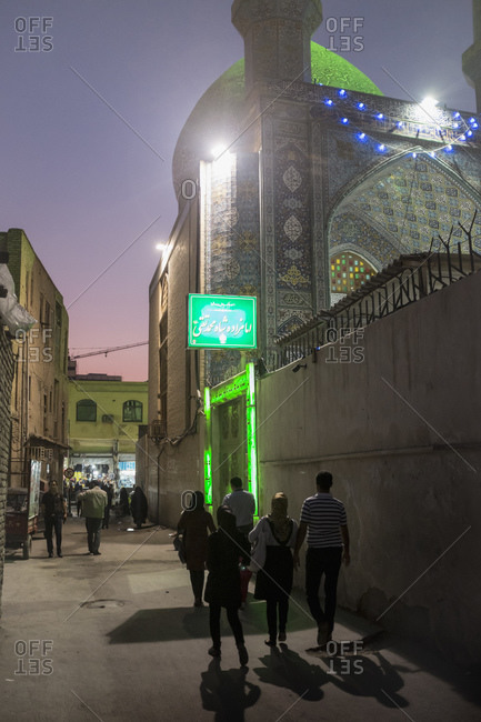 Bandar Abbas, Iran - February 6, 2015: Walking the back alleys of the Persian Gulf port city