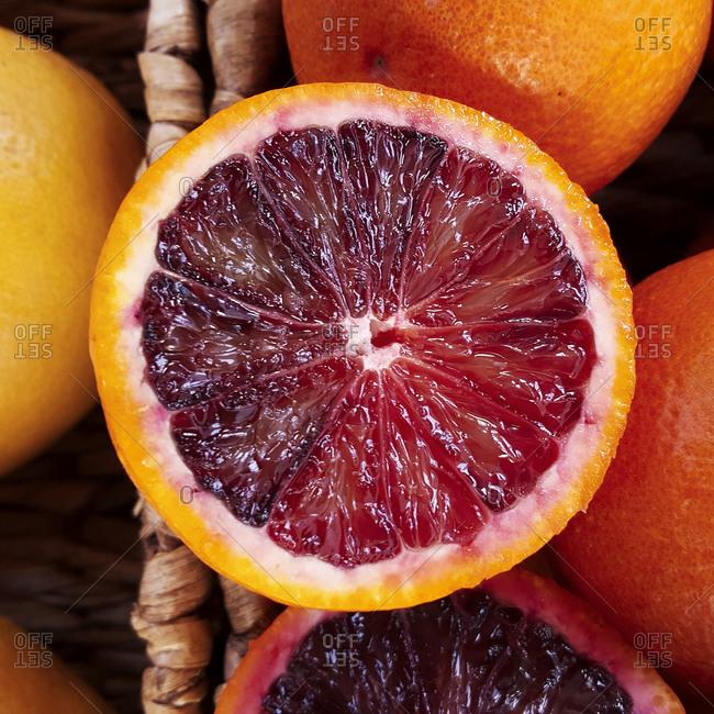 Fresh sliced blood oranges - Offset