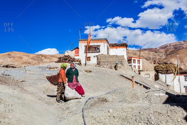 Woman of Kibber village, Indian Himalayas