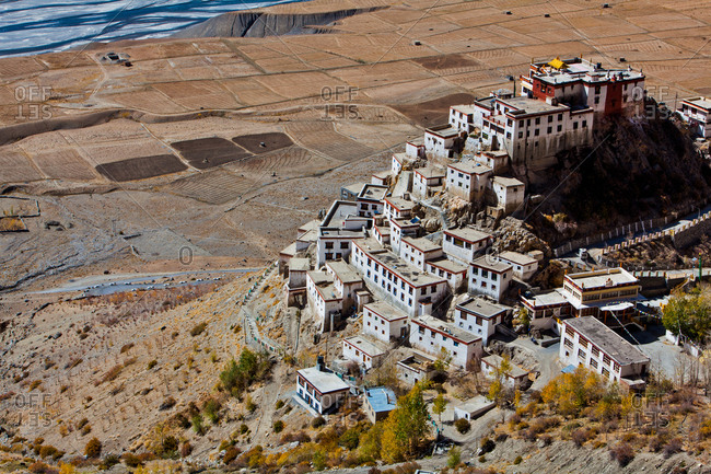 Kee Monastery in secluded Indian mountains