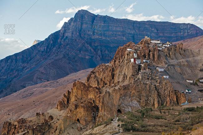 Dhangkar Gompa monastery in Himachal Pradesh, India