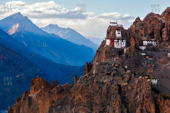 Dhangkar Gompa monastery in Spiti valley, Himachal Pradesh, India