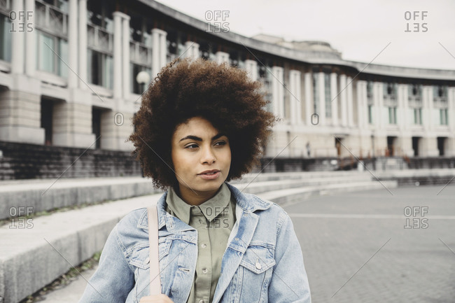 Young woman walking in Bristol, UK