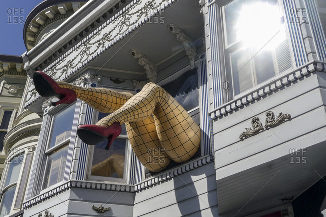 San Francisco, California, USA - March 6, 2010: Humorous decor in Haight Ashbury in San Francisco, California