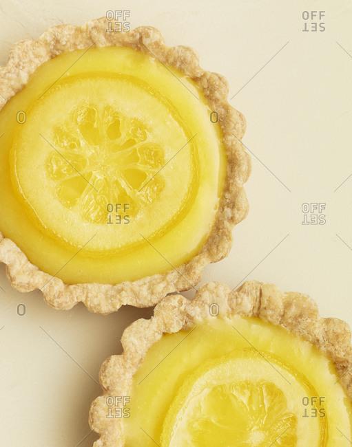 Two lemon tarts