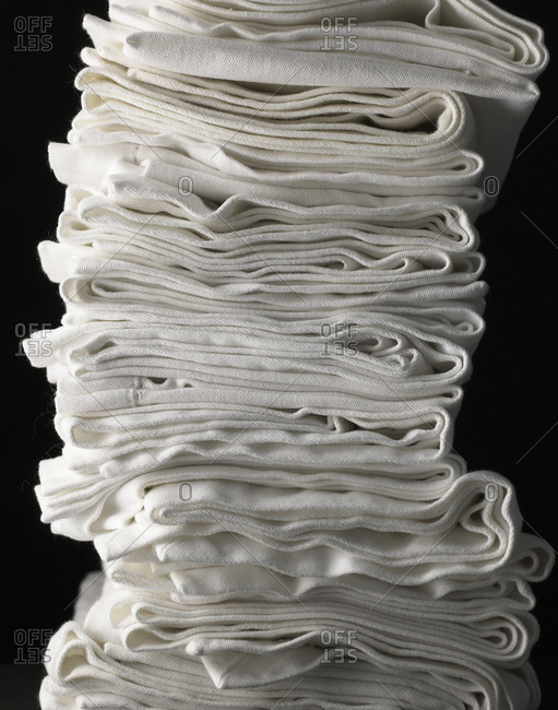 A pile of white linens