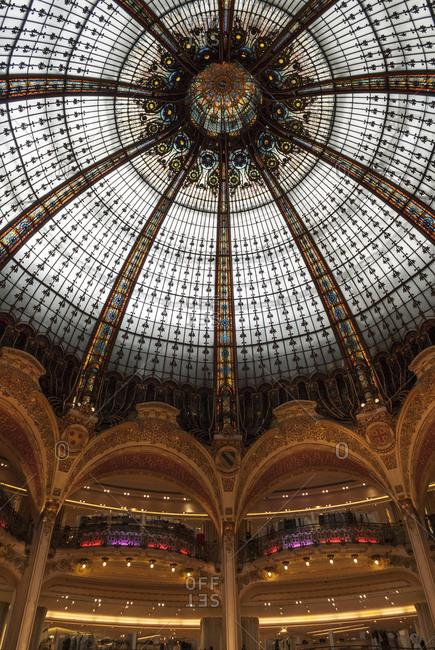 Paris, France - June 25, 2008: Galeries Lafayette shops, Paris, France