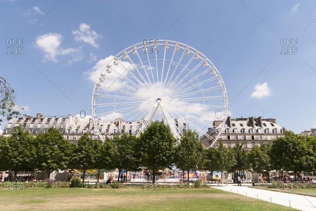 Paris, France - June 30, 2008: Ferris Wheel, Paris, France