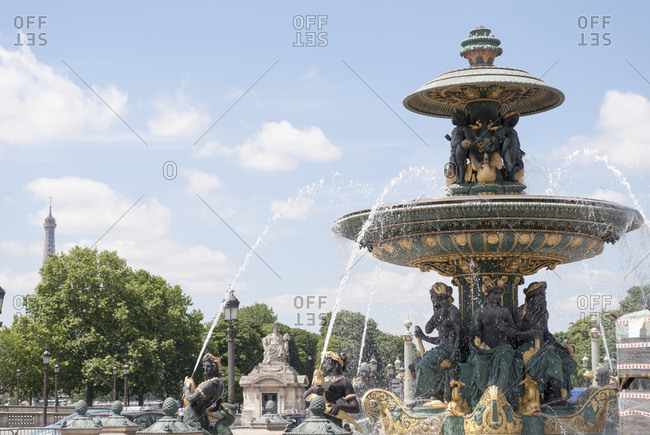 Paris, France - June 30, 2008: Place de la Concorde, Paris, France